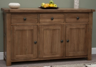 Homestyle GB Rustic Oak Sideboard - Large