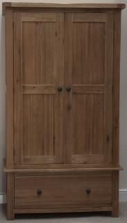 Homestyle GB Rustic Oak Wardrobe - Gents