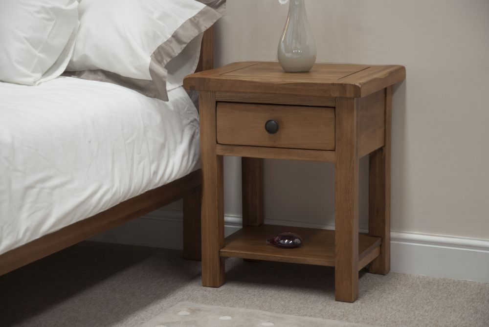Homestyle GB Rustic Oak 1 Drawer Lamp Table