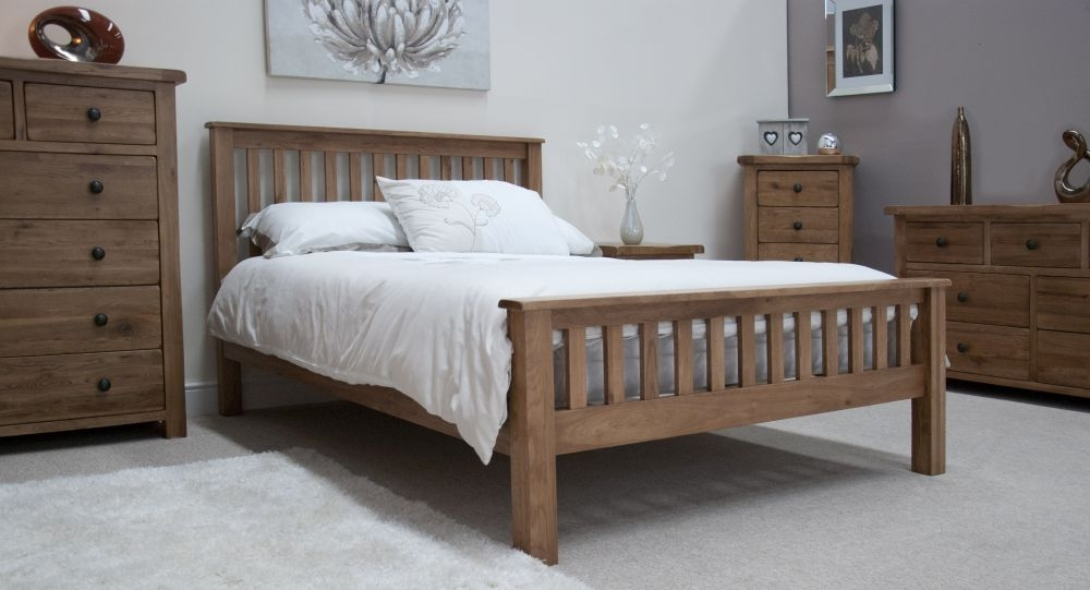 Buy Homestyle Gb Rustic Oak Bed Online Cfs Uk