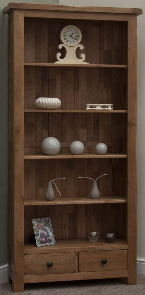 Homestyle GB Rustic Oak Bookcase - Large
