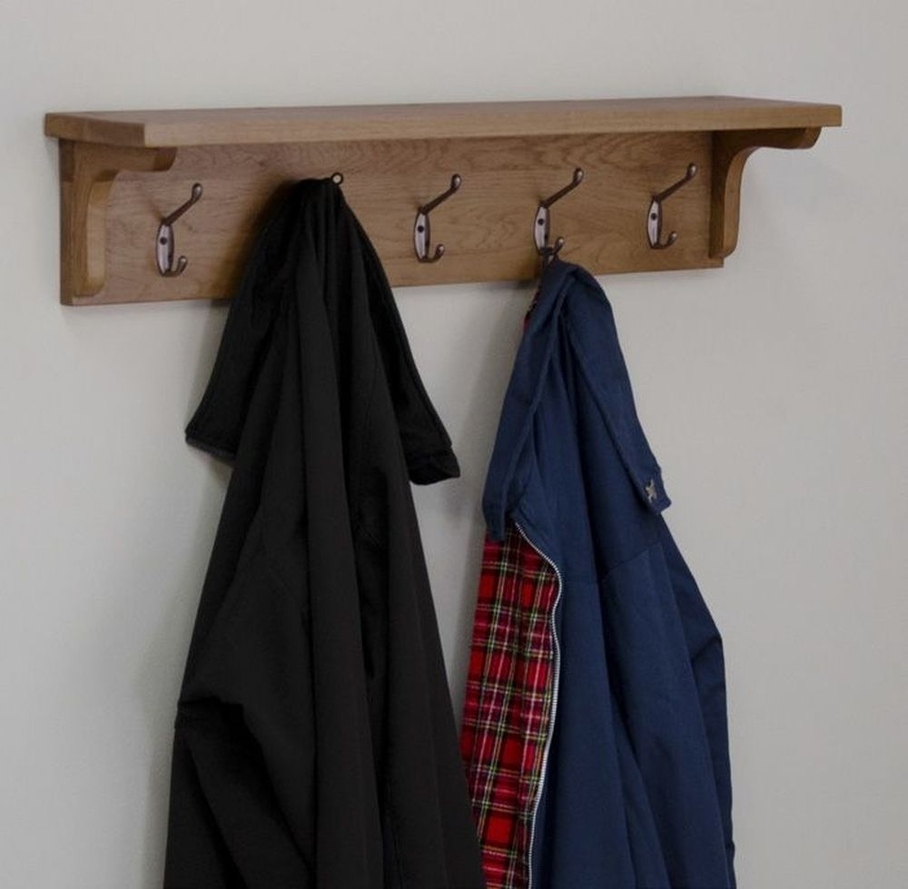 Homestyle GB Rustic Oak Coat Rack Holder