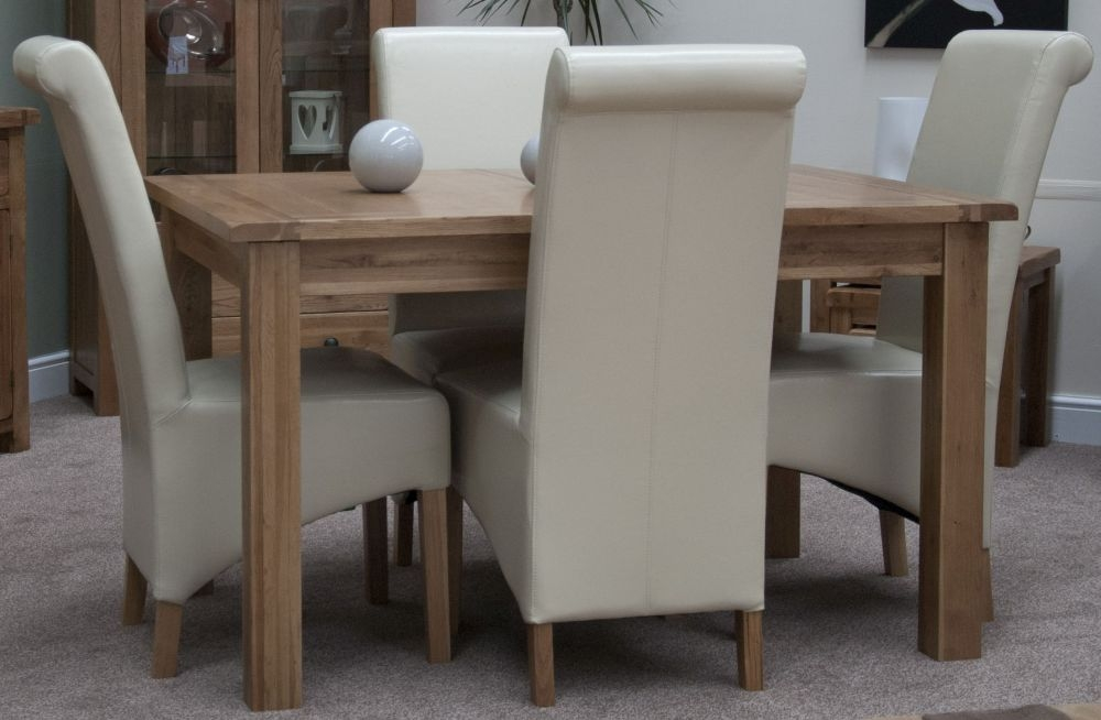 Buy Homestyle GB Rustic Oak Dining Set Extending With 4
