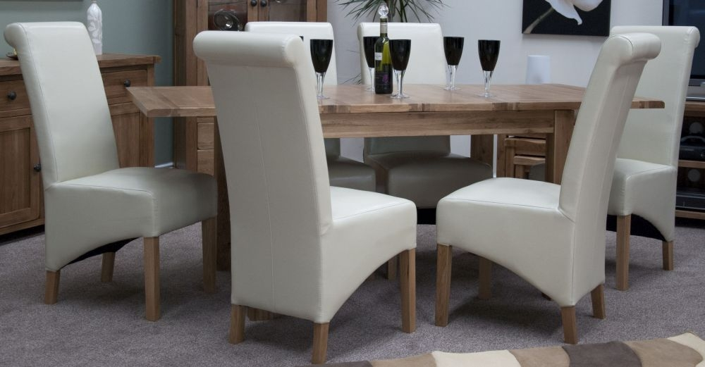 Buy Homestyle GB Rustic Oak Dining Set Extending With 6