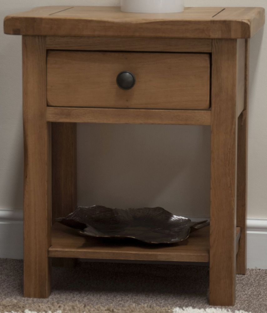 Buy Homestyle Gb Rustic Oak Lamp Table Online Cfs Uk