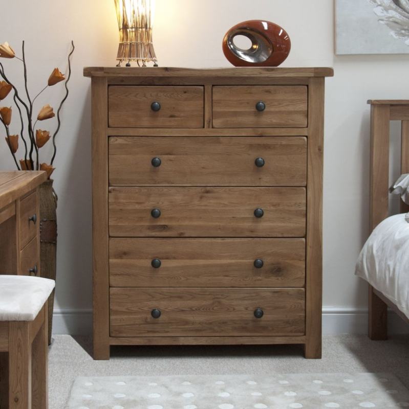 Homestyle GB Rustic Oak 4+2 Drawer Chest