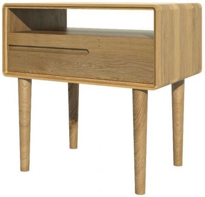 Homestyle GB Scandic Oak Lamp Table