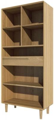 Homestyle GB Scandic Oak Large Bookcase