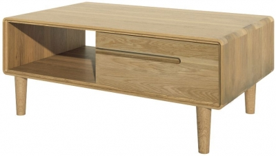 Homestyle GB Scandic Oak Storage Coffee Table