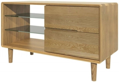 Homestyle GB Scandic Oak Small TV Unit