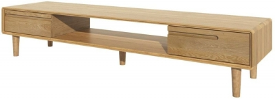 Homestyle GB Scandi Oak Large TV Unit
