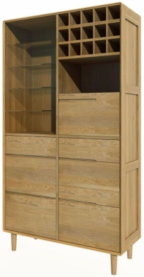 Homestyle GB Scandic Oak Drinks Cabinet