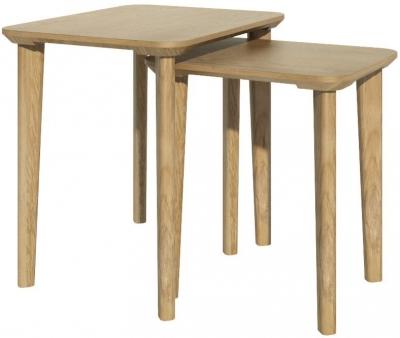 Homestyle GB Scandic Oak Rectangular Nest of Tables