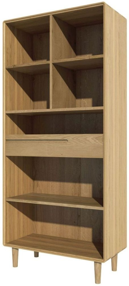 Homestyle GB Scandic Oak Large Bookcase