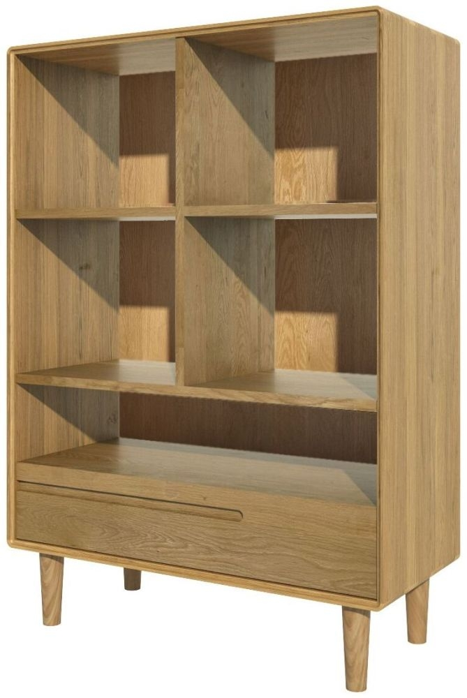 Homestyle GB Scandic Oak 1 Drawer Small Bookcase