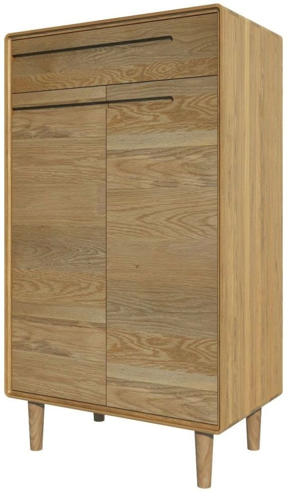 Homestyle GB Scandic Oak Shoe Cabinet
