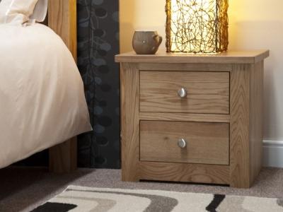 Homestyle GB Torino Oak Oak Small Bedside Cabinet