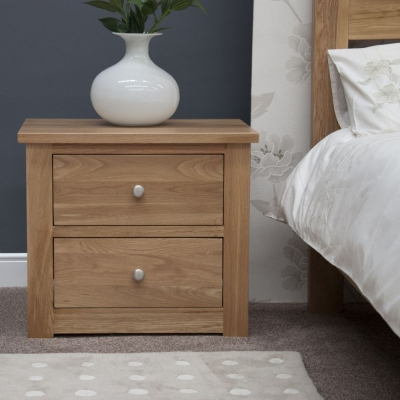 Homestyle GB Torino Oak Medium Bedside Cabinet