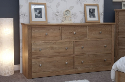 Homestyle GB Torino Oak 4+3 Drawer Deep Chest