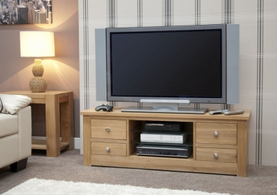 Homestyle GB Torino Oak Large Plasma Unit