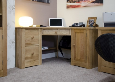 Homestyle GB Torino Oak Computer Desk - Corner