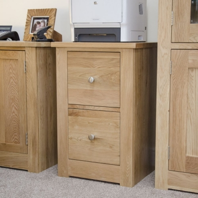 Homestyle GB Torino Oak Filing Cabinet - 2 Drawer