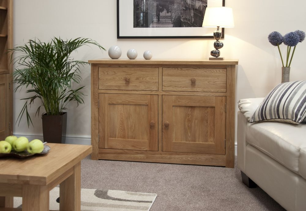 Homestyle GB Torino Oak 2 Door 2 Drawer Narrow Sideboard