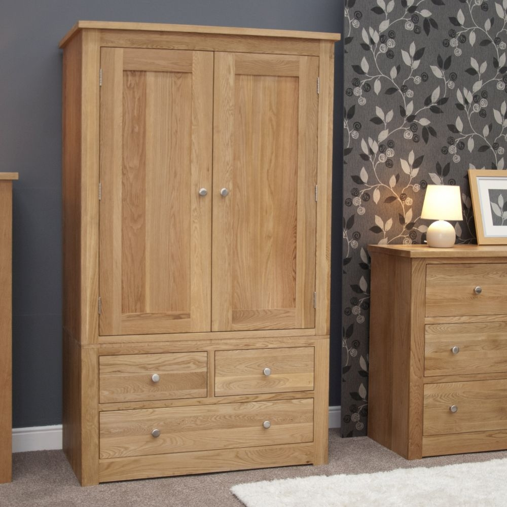 Homestyle GB Torino Oak 2 Door 3 Drawer Double Wardrobe