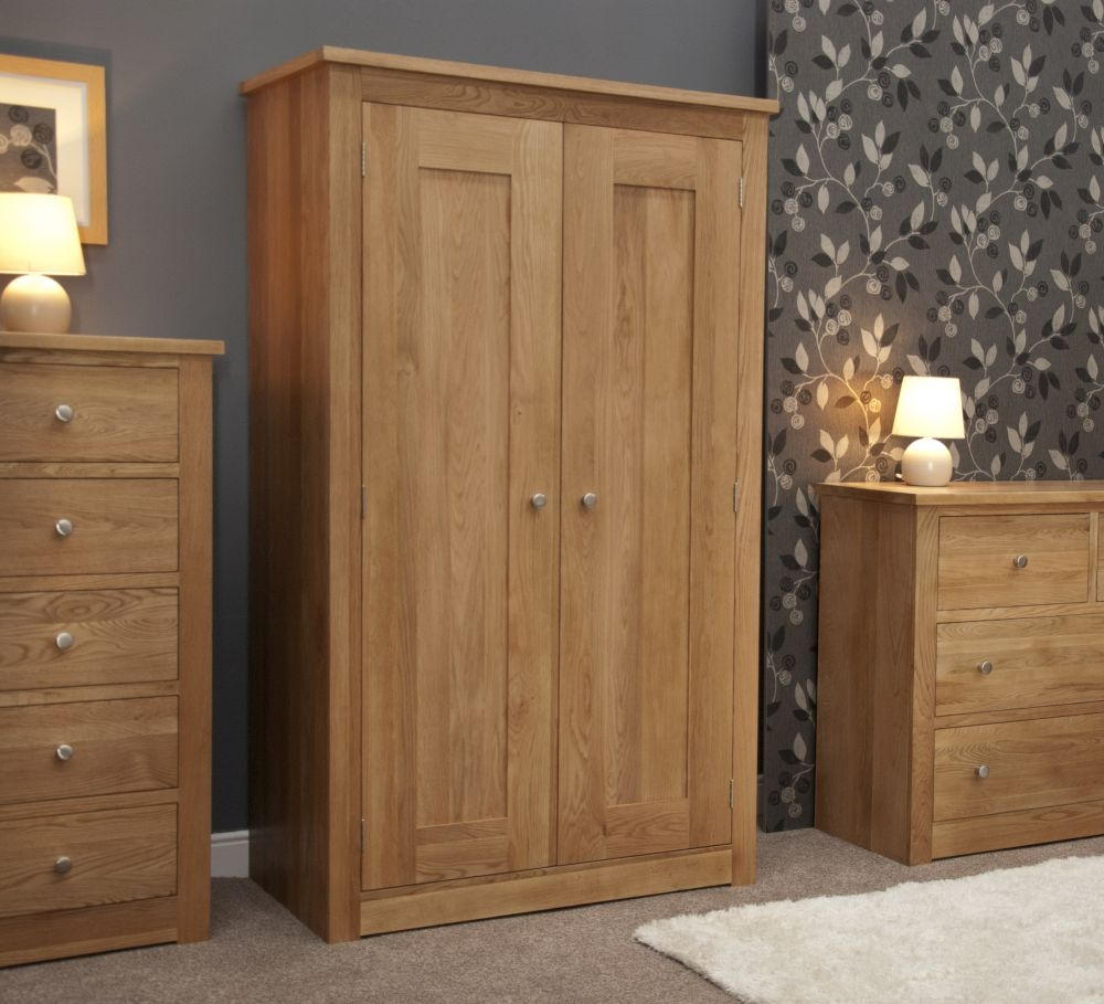 Homestyle GB Torino Oak 2 Door Double Wardrobe