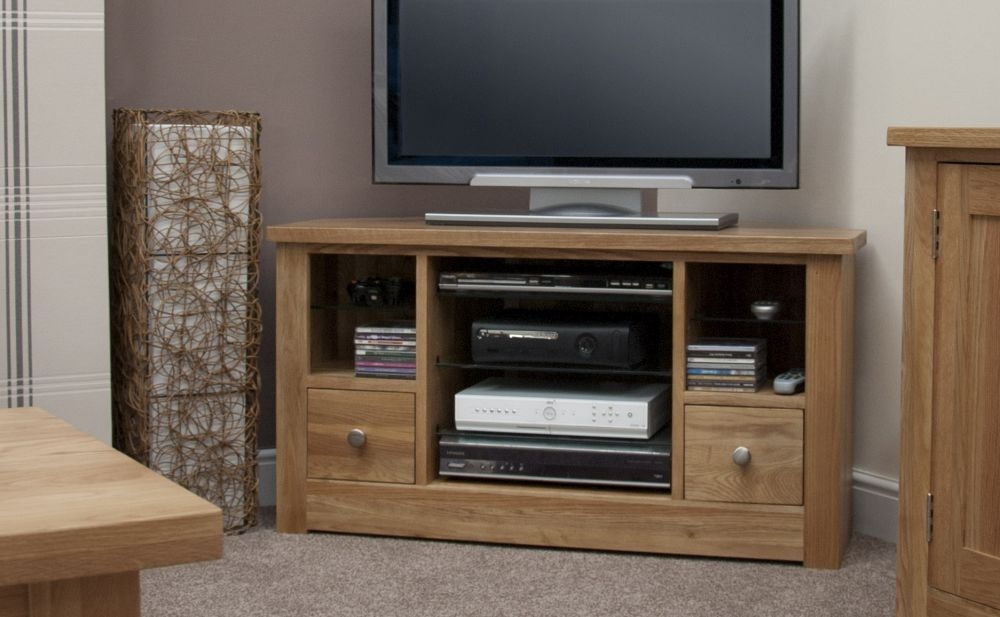 Homestyle GB Torino Oak 2 Drawer Corner TV Unit