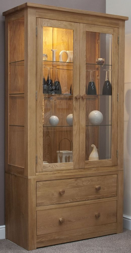 Homestyle GB Torino Oak Glass Display Cabinet