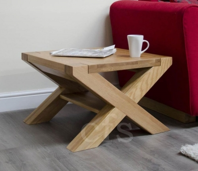 Homestyle GB Trend Oak Coffee Table with X Leg - 2 x 2