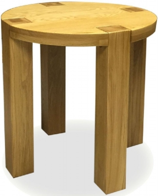 Homestyle GB Trend Oak Lamp Table - Round
