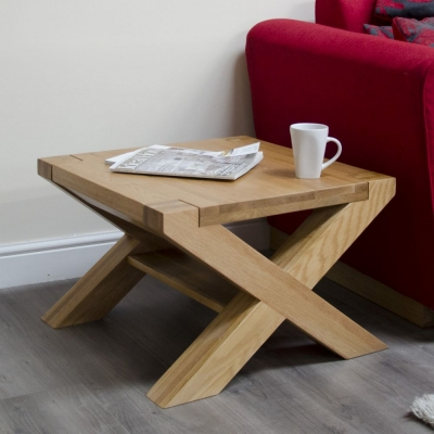 Homestyle GB Trend Oak Small Coffee Table with X Leg