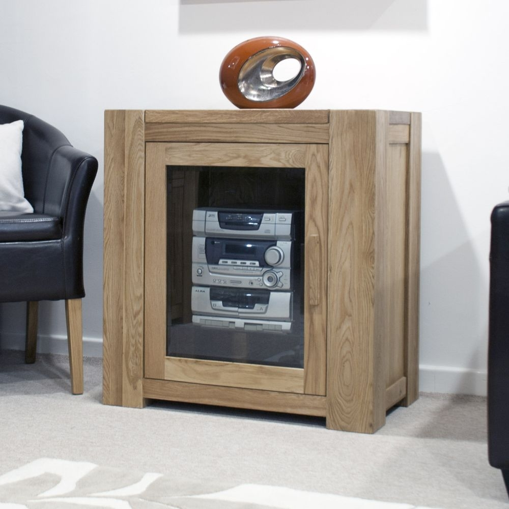 Homestyle GB Trend Oak 1 Door Hifi Entertainment Cabinet