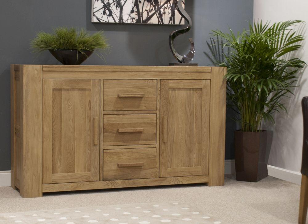 Homestyle GB Trend Oak 2 Door 3 Drawer Wide Sideboard