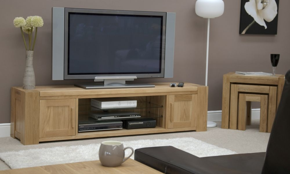 Homestyle GB Trend Oak Large TV Plasma Unit