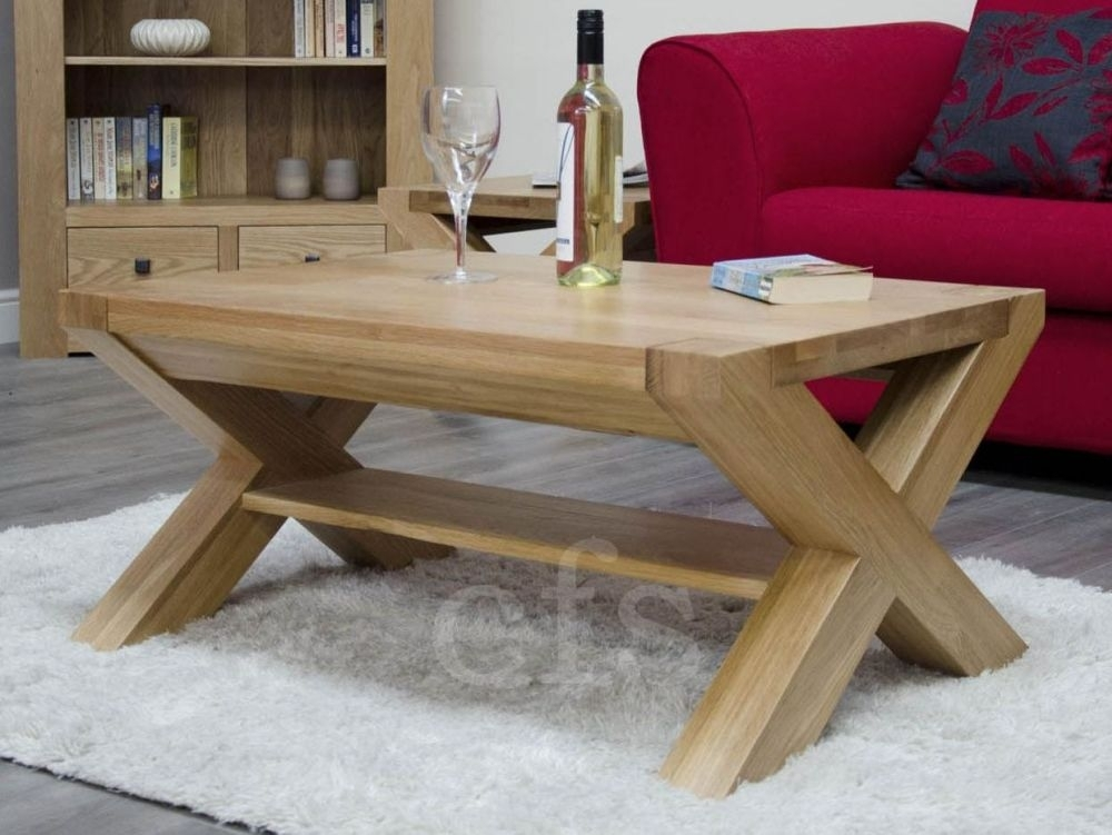 Homestyle GB Trend Oak Coffee Table with X Leg - 3 x 2