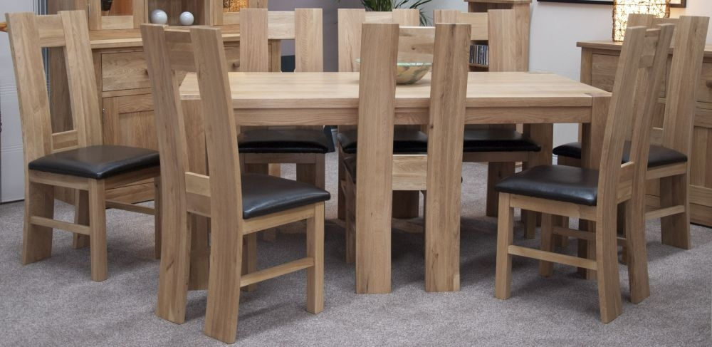 Homestyle GB Trend Oak Dining Set Large With 8 High