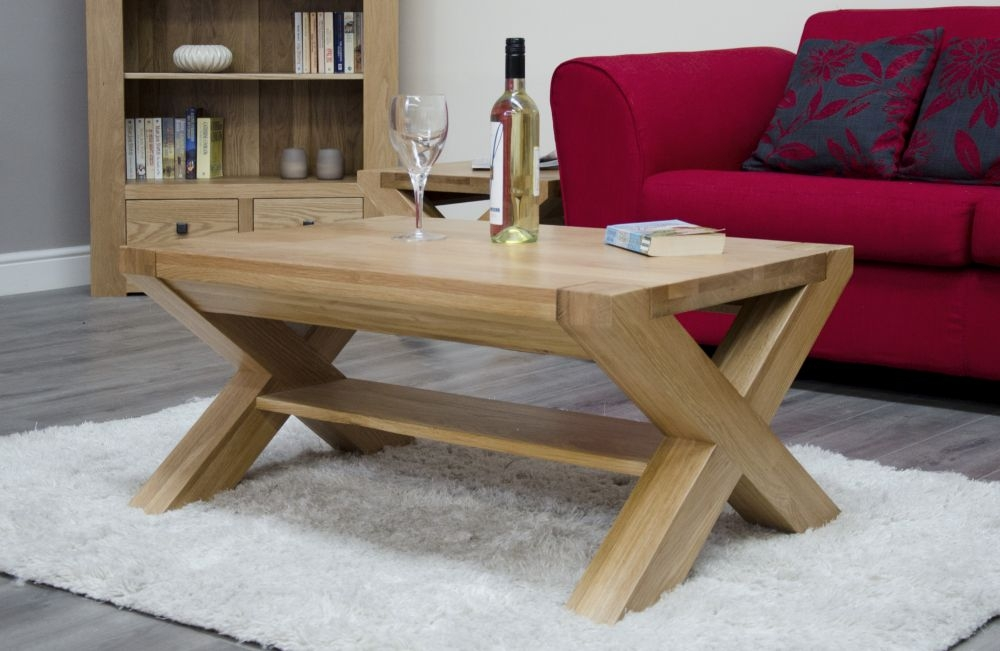 Homestyle GB Trend Oak Medium Coffee Table with X Leg