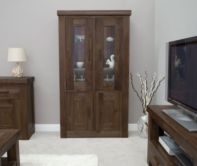 Homestyle GB Walnut Glass Display Cabinet