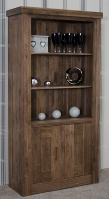Homestyle GB Walnut Bookcase - 2 Door