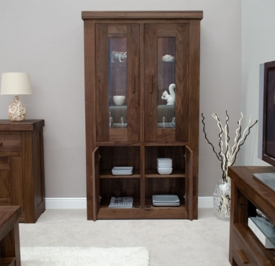 Homestyle GB Walnut Glass Cabinet