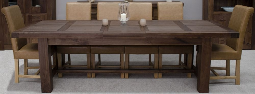 Homestyle GB Walnut Dining Set - Grand Extending with 6 Louisa Tan Chairs
