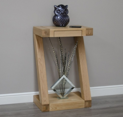 Homestyle GB Z Designer Oak Small Console Table