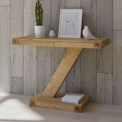 Homestyle GB Z Designer Oak Large Console Table
