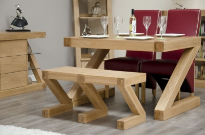 Homestyle GB Z Oak Designer Bench - Small
