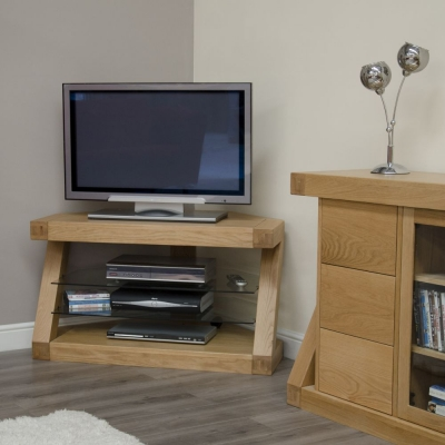 Homestyle GB Z Designer Oak Corner TV Unit