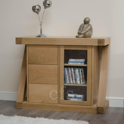 Homestyle GB Z Oak Designer Glazed Chest of Drawer