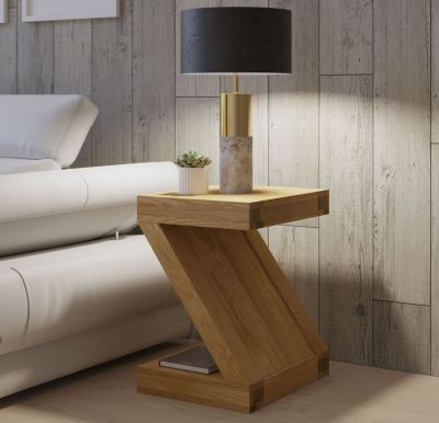 Homestyle GB Z Oak Designer Lamp Table